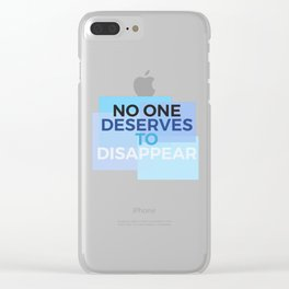 Disappear - Dear Evan Hansen Clear iPhone Case