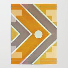 Fish - geometric square Poster