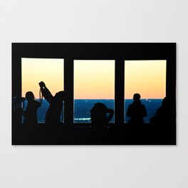 We are the tourists in the cafe Canvas Print