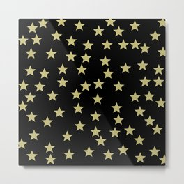 Golden Stars Metal Print