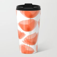 poppies Metal Travel Mug