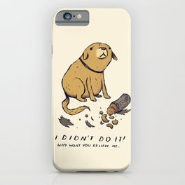 guilty dog iPhone Case