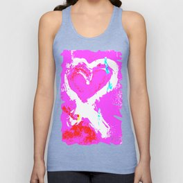 Pink Graffiti Ribbon for Breast Cancer Research by Jeffrey G. Rosenberg Unisex Tank Top