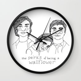 The Perks of Being a Wallflower Wall Clock