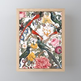 Floral and Birds XXXV Framed Mini Art Print
