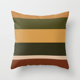 Stay in line : Green and Gold Throw Pillow