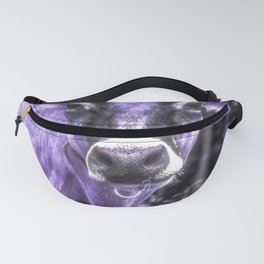 Ultraviolet Dairy Cow Fanny Pack