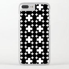 Jerusalem Cross 3 Clear iPhone Case