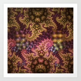 Dragon dreams, fractal pattern abstract Art Print