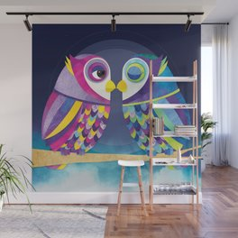 Shanti Sparrow: Bill & Judy the Owls Wall Mural