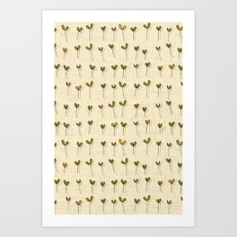 sprouts cream Art Print