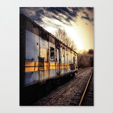 Fading Into The Sunset Canvas Print