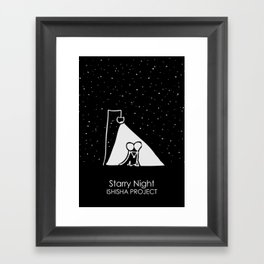 Starry Night by ISHISHA PROJECT Framed Art Print