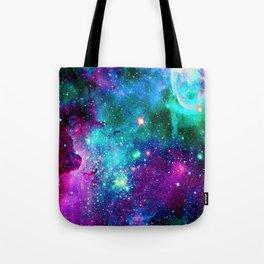 purple pink blue nebula Tote Bag