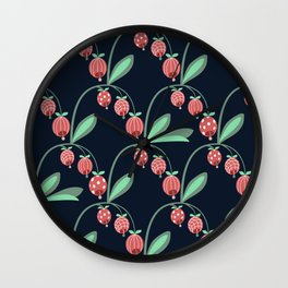 Daily pattern: Retro Flower No.12 Wall Clock