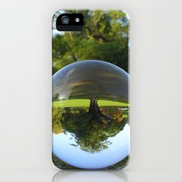 Old Park Tree, crystal ball / Glass Ball Photography iPhone Case