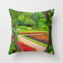 Secret Garden Print Throw Pillow