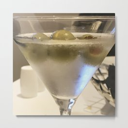 'Tini Time'! Dry Martini With Extra Olives Metal Print