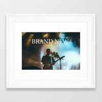 brand new Framed Art Prints featuring Brand New by ICANWASHAWAY