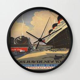 Vintage poster - Cie Gle Transatlantique Wall Clock