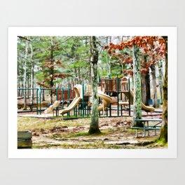 Plyground at Cheaha Lake Art Print