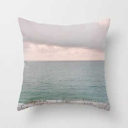 San Juan Beach Scene 1 Throw Pillow
