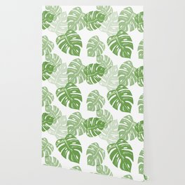 Linocut Leaf Wallpaper