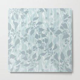 Pale blue Beautiful grass. Metal Print