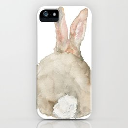 Cottontail Bunny Rabbit Watercolor - Back iPhone Case