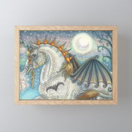 SPELLBOUND Gothic Halloween Unicorn Framed Mini Art Print