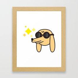 Blinded by the light Framed Art Print