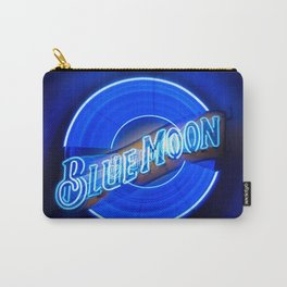 Blue Moon zoom burst neon sign Carry-All Pouch