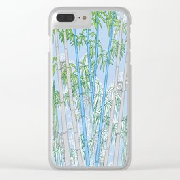 Bamboo XIX Clear iPhone Case
