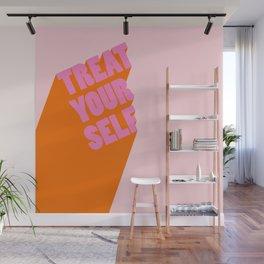 Treat Yourself   Peach Wall Mural