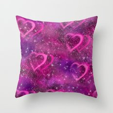Pink Haze Throw Pillow