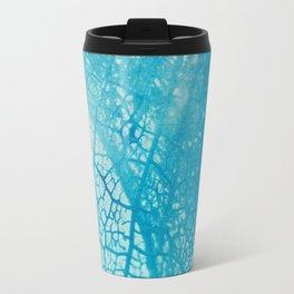 Floral Skeleton Cyanatope Print Travel Mug