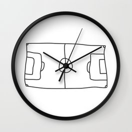 Football in Lines Wall Clock