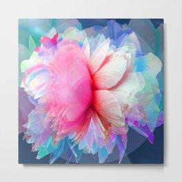 'EMOTIONALLY UNAVAILABLE' - ROSE FLOWER PRINT Metal Print