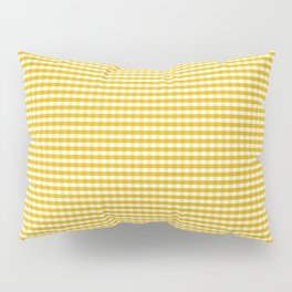 Mustard Gingham Pillow Sham