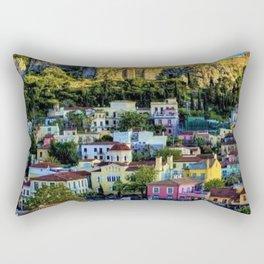 Daytime view of the Acropolis ruins; Athens, Greece Rectangular Pillow