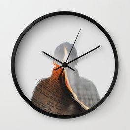 Burn Wall Clock