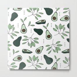 Avocado harvest veggie lovers garden mint green spring summer Metal Print