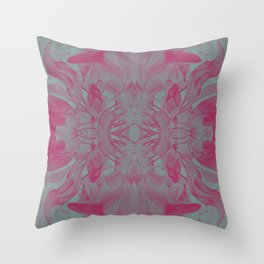 Feminine Devine in Fuchsia Pink and Powder Mint Throw Pillow