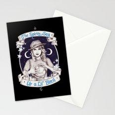 Mystic Miss Maggie Esmerelda (b&w) Stationery Cards