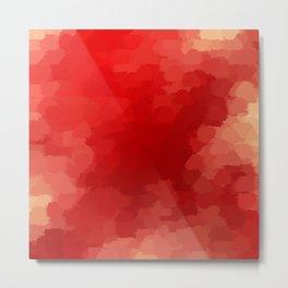 red painted pattern Metal Print
