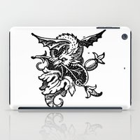 pee wee iPad Cases featuring Wee Wyvern by Bramble & Posy