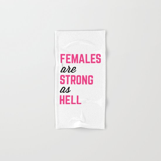 Females Strong Hell Gym Quote Hand & Bath Towel