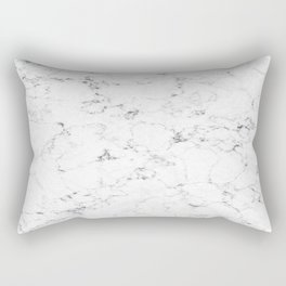 Marble White, Black and Gray 2 Texture Abstract Photography Design Rectangular Pillow