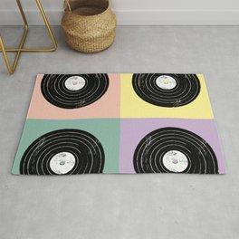 For the Record // Retro Pop Art Design Rug