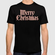 Merry Christmas Candice Version Black MEDIUM Mens Fitted Tee